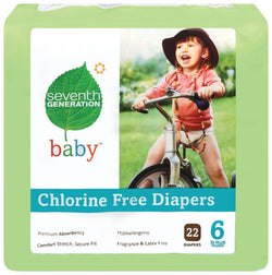 Seventh Generation Baby Diapers Stage 6 (35+ lbs) - 4 x 20 ct.