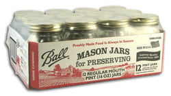 Ball Canning Jars Pint - Case/12
