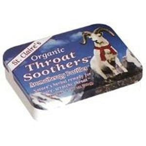 St. Claire's Throat Soothers Pastilles, Organic - 1 tin