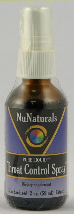 NuNaturals Throat Control Spray - 2 ozs.