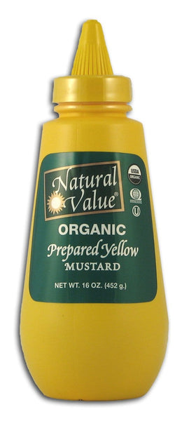 Natural Value Yellow Mustard Organic - 16 ozs.