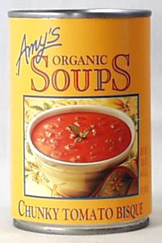 Amy's Chunky Tomato Bisque Soup Organic - 12 x 14.5 ozs.