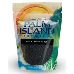 Palm Island Premium Sea Salt, Black Lava - 6 x 6 ozs.