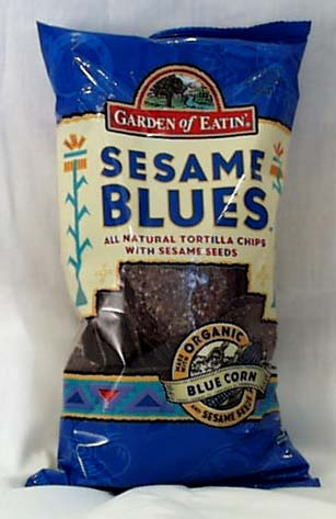 Garden of Eatin' Sesame Blues Tortilla Chips - 12 x 7.5 ozs.