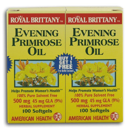 American Health Royal Brittany Evening Primrose Oil - 100 softgels +