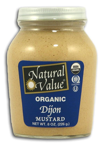 Natural Value Dijon Mustard Organic - 8 ozs.