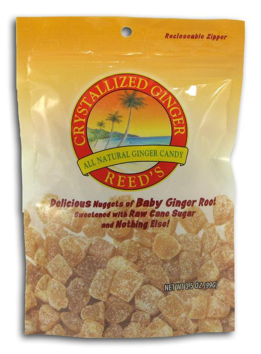 Reed's Crystallized Baby Ginger Root Candy - 12 x 3.5 ozs.