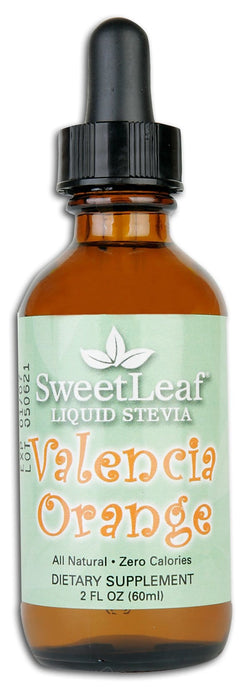 Sweet Leaf Stevia Clear Liquid Valencia Orange - 2 ozs.