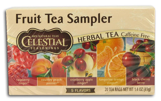 Celestial Seasonings Fruit Tea Sampler - 6 x 1 box