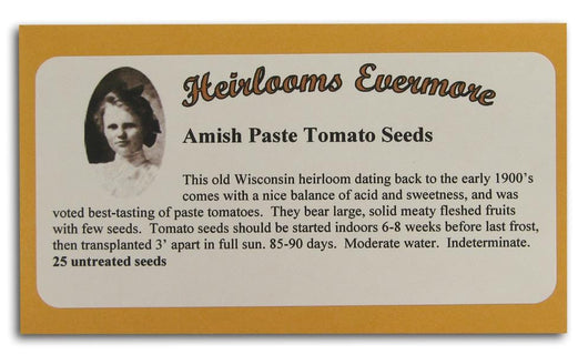 Heirlooms Evermore Amish Paste Tomato Seeds - 25 seeds