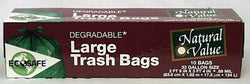 Natural Value Trash Bags Large (33 gallon) - 10 ct.