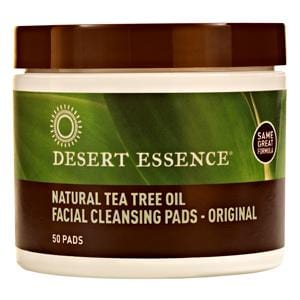 Desert Essence Facial Cleansing Pads with Tea Tree - 50 pads
