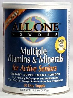All-One Active Seniors Multi-Vitamin & Mineral - 15.9 ozs.