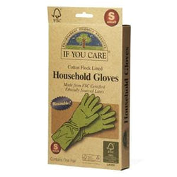 If You Care Household Gloves, Cotton Flock Lined, Small - 12 x 1 pair