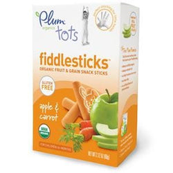 Plum Organics Tots, Fiddle Sticks-Apple Carrot, Organic - 12 x  2.12 oz