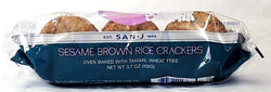 San-J Sesame Brown Rice Crackers Wheat-free - 3.5 ozs.