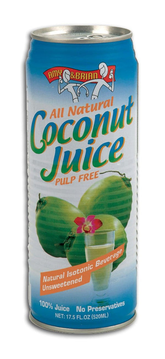 Amy & Brian Young Coconut Juice Pulp Free - 3 x 17.5 ozs.