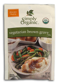 Simply Organic Vegetarian Brown Gravy Mix Organic - 3 x 1 oz.