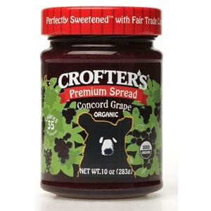 Crofter's Concord Grape Premium Spread - Organic - 10 ozs.