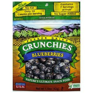 Crunchie's Blueberries, Freeze Dried - 1.5 ozs.