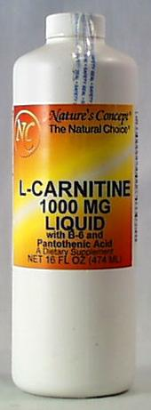 Nature's Concept L-Carnitine Liquid 1,000 mg - 16 ozs.