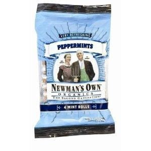 Newman's Own Mints, Peppermint, Organic - 3 ozs.
