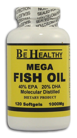 Be Healthy Mega Fish Oil 1000 mg. - 120 softgels