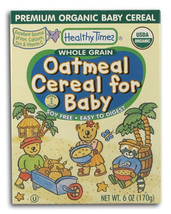 Healthy Times Oatmeal Cereal Organic - 6 ozs.