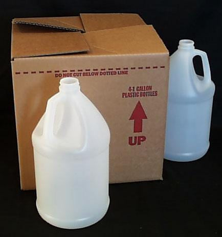 Packaging Supplies Empty Plastic Gallons w/ Lids - 4 x 1 Gal.