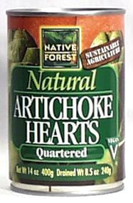 Native Forest Artichoke Hearts Quartered - 14.12 ozs.