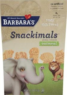 Barbara's Bakery Snackimals Oatmeal Wheat Free - 7.5 ozs.