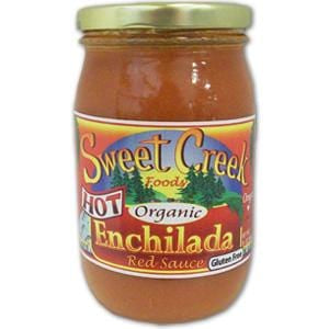 Sweet Creek Foods Enchilada Red Sauce, Hot, Organic - 16 ozs.