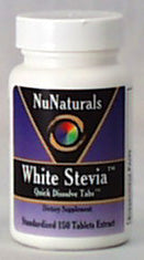 NuNaturals Stevia White Quick Dissolve Tablets - 150 tablets