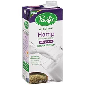 Pacific Foods Hemp Milk, Unsweetened, Original, All Natural - 32 oz