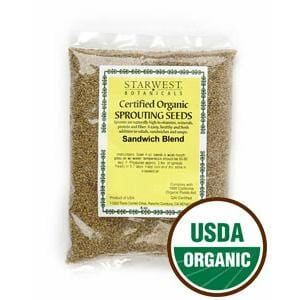 Starwest Sandwich Blend Sprouting Seeds, Organic - 4 ozs.