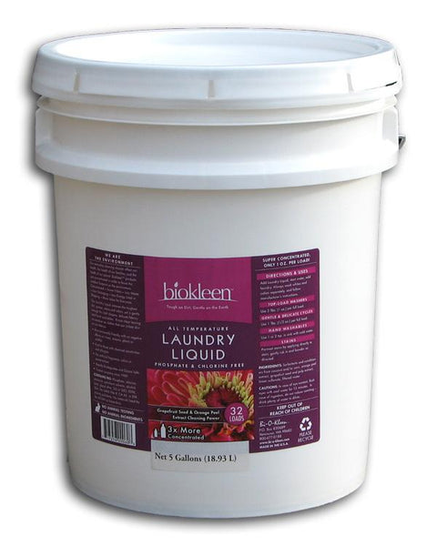 Biokleen Laundry Liquid - 640 Loads - 5 gallons