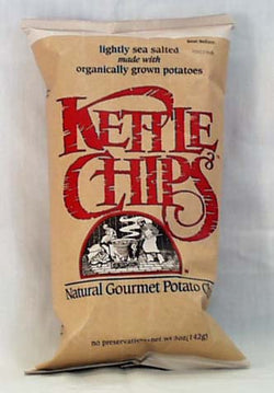 Kettle Foods Potato Chips Lightly Salted Organic - 15 x 5 ozs.