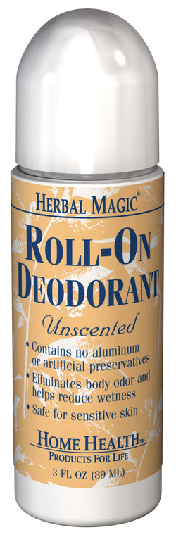 Home Health Herbal Magic Deodorant Unscented Roll-on - 3 ozs.
