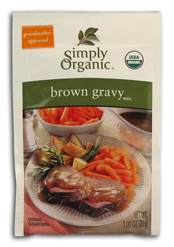 Simply Organic Brown Gravy Mix Organic - 3 x 1 oz.