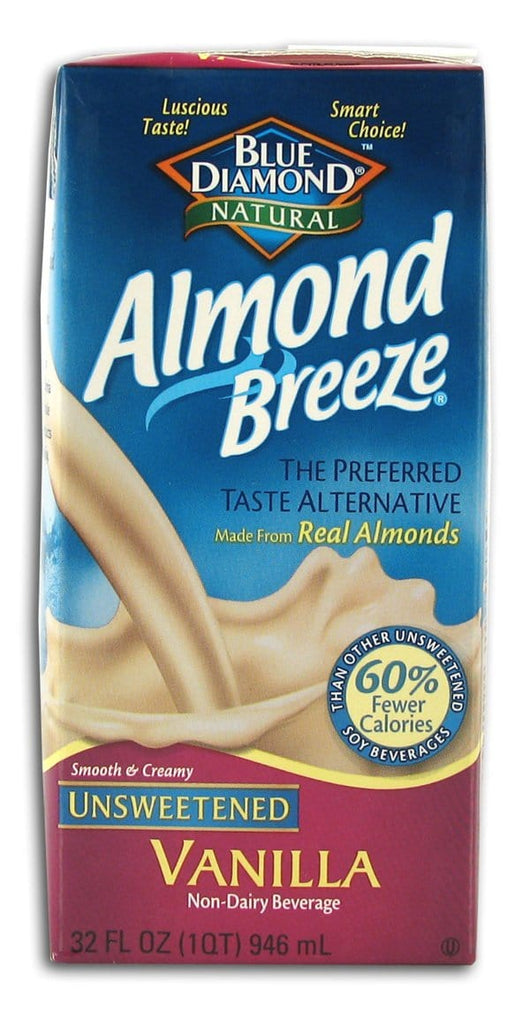 Blue Diamond Almond Breeze Unsweetened Vanilla - 32 ozs.
