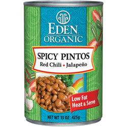 Eden Foods Spicy Pinto Beans Organic - 12 x 15 ozs.