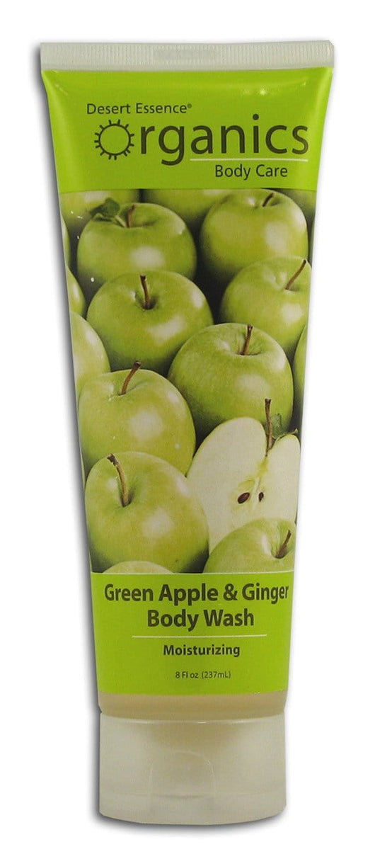 Desert Essence Green Apple & Ginger Body Wash Organic - 8 ozs.