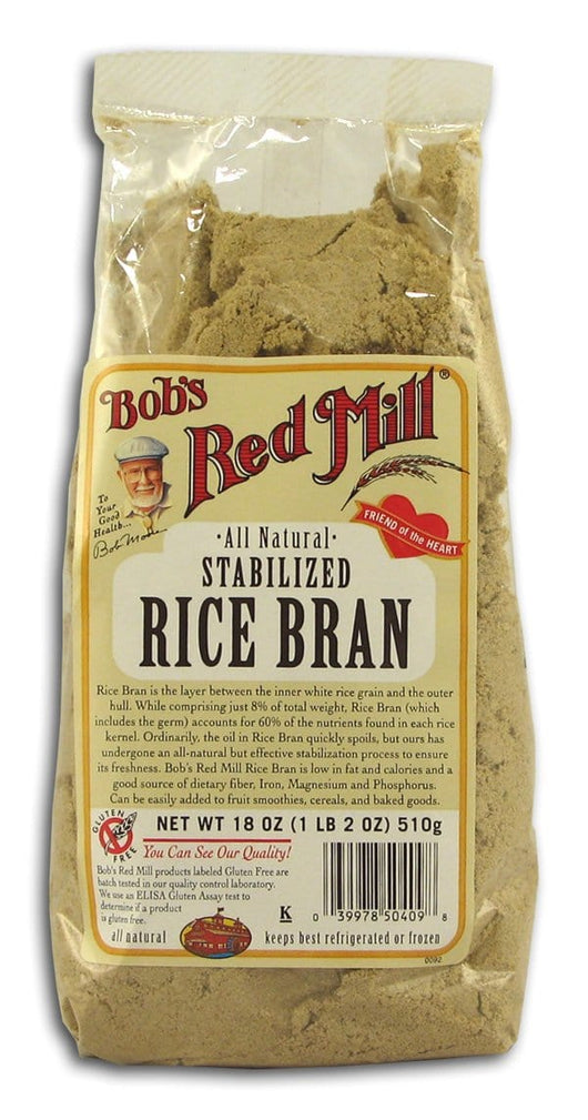 Bob's Red Mill Rice Bran Stabilized All Natural - 4 x 18 ozs.
