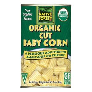 Native Forest Baby Corn Cut Organic - 14 ozs.