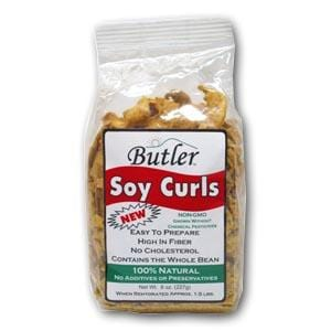 Butler Foods Soy CURLS Natural GMO Free - 24 x 8 ozs.