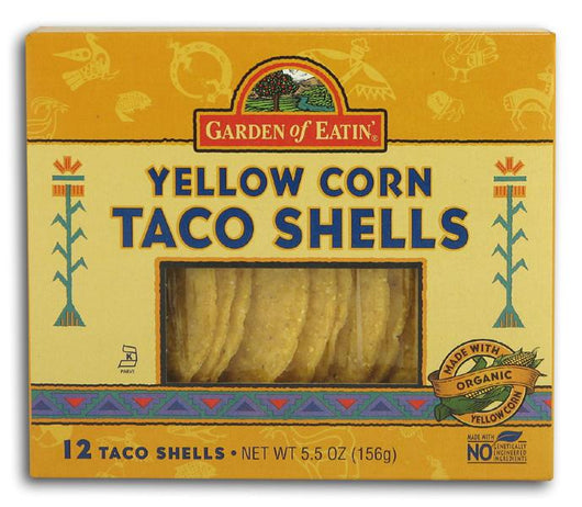Garden of Eatin' Taco Shells Yellow Corn - 3 x 5.5 ozs.
