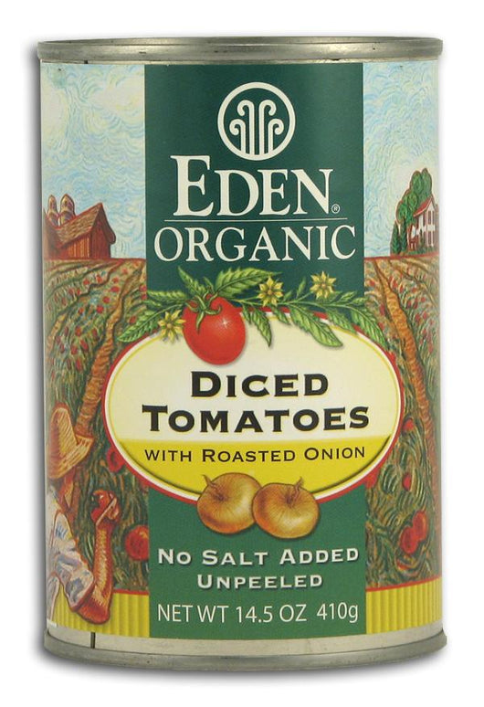 Eden Foods Diced Tomatoes with Roasted Onion Organic - 12 x 14.5 ozs.