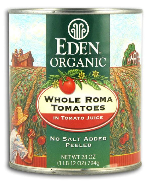 Eden Foods Whole Roma Tomatoes Organic - 12 x 28 ozs.