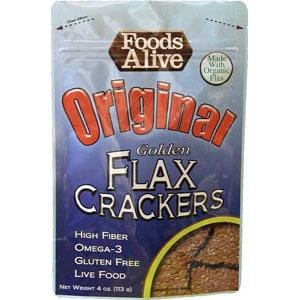 Foods Alive Original Flax Crackers Organic - 6 x 4 ozs.