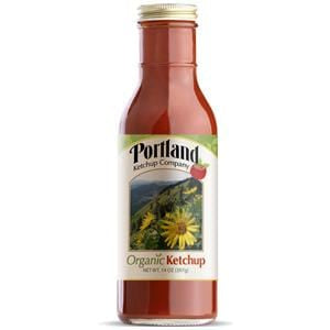 Portlandia Foods Ketchup, Natural, in Glass - 12 x 14 ozs.
